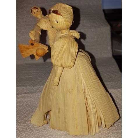 vintage corn husk doll vintage corn husk doll 5 1 4 carrying baby in