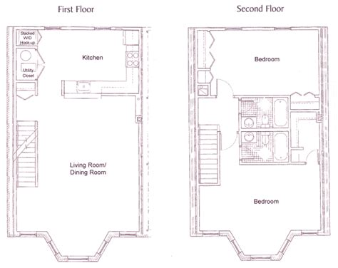 bay window plans the townhomes on capitol hill floor plan two bedroom