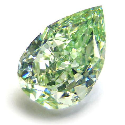 Diamon Green 1 25ct pear shape fancy y green from ishay ben david corp via stonefinder