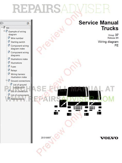 volvo trucks fe wiring diagrams service manuals