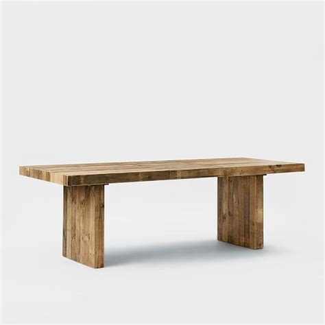 West Elm Reclaimed Wood Table by Emmerson Reclaimed Wood Expandable Dining Table West Elm