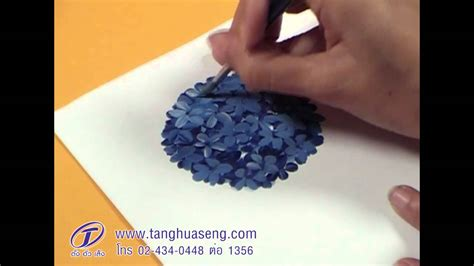 how to paint how to paint hydrangea