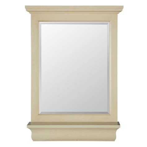 foremost cottage 24 inch mirror premium antique white home decorators collection belvedere 32 in h x 24 in w