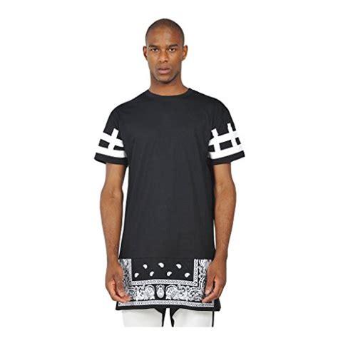 Longline Shirt Fregie Unisex pizoff mens unisex hip hop paisley bandana longline side zipper t shirt best made