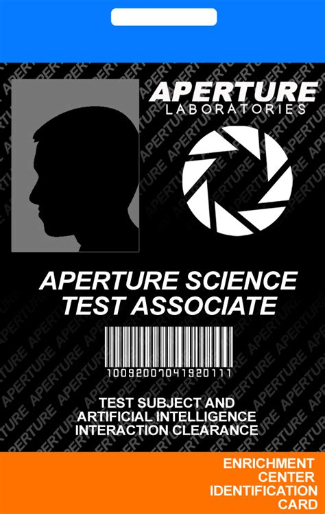 aperture science id card template aperture science id card by incongruousinquiry on deviantart