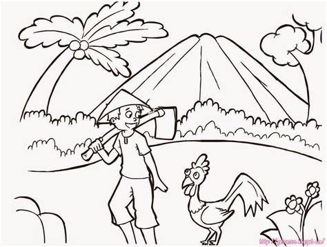 contoh gambar bunga untuk anak sd contoh raffa