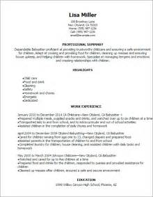Professional Babysitter Resume Templates to Showcase Your