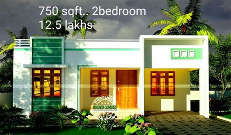750 square feet 2 bedroom low budget home design and plan home 750 square feet 2 bedroom single floor budget home design