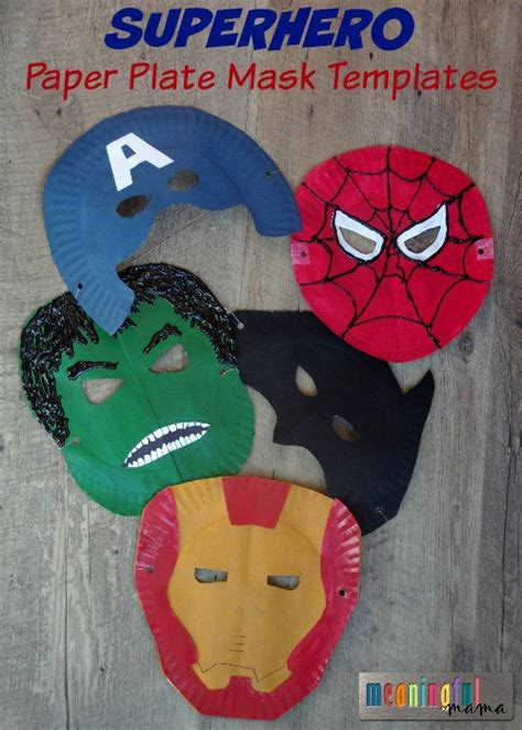 Paper Plate Mask Craft - paper plate crafts for