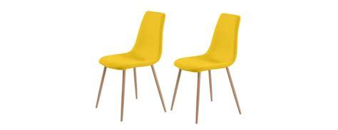 chaises jaunes chaise aleksi jaune lot de 2 testez nos chaises aleksi