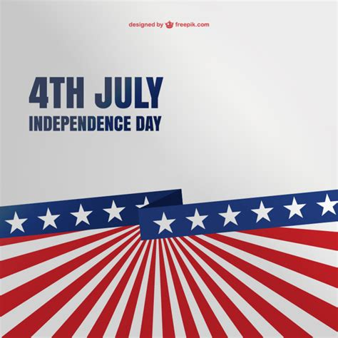 4th of july free background template vector free download