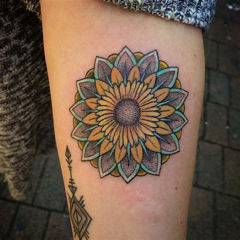 sunflower mandala tattoo meaning mandala tattoostime search