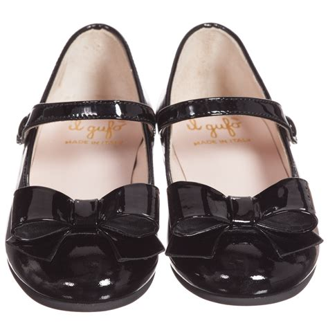 black patent leather shoes il gufo black patent leather shoes with bow