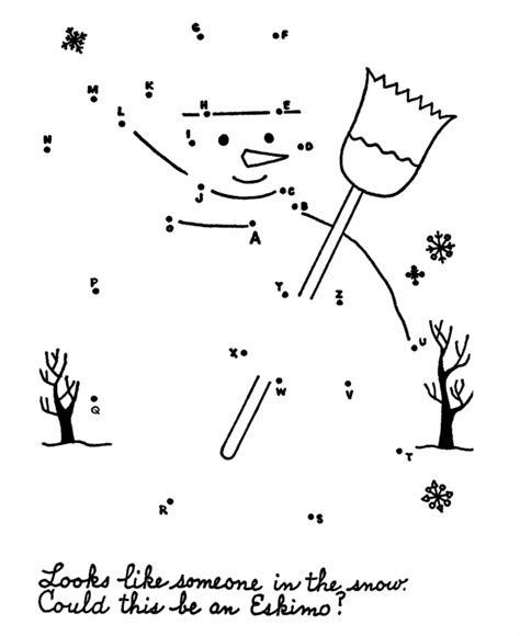 free printable dot to dot winter dot to dot activity page snowman dot to dot