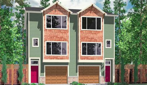 narrow lot duplex house plans hillside home plans with basement sloping lot house plans