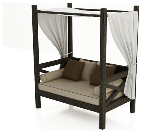 outdoor loveseat with canopy hton canopy day bed by forever patio modern outdoor