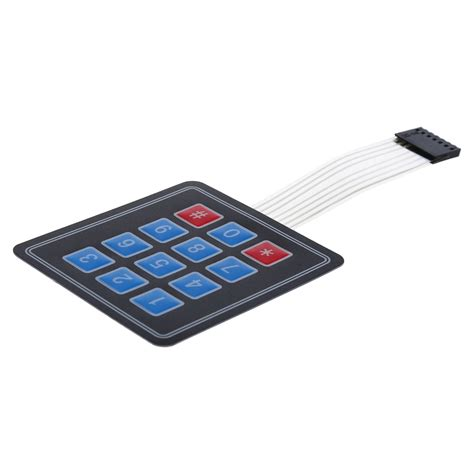 key matrix array membrane switch keypad
