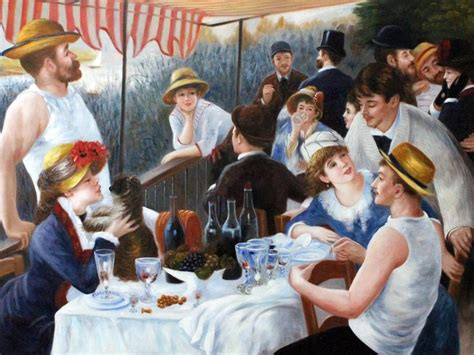 luncheon of the boating party renoir luncheon of the boating party hand painted oil