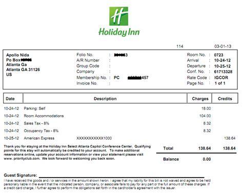 Marriott Receipt Template by Copy Of Hotel Receipts Http Www
