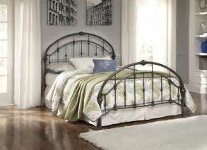 Metal Headboard And Footboard Signature Design By Nashburg Bronze Finish Metal Bed Goedekers