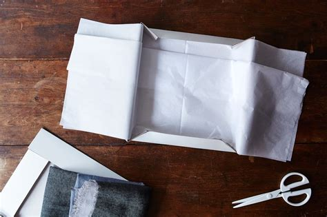 How To Fold Tissue Paper In A Box - how to gift wrap a box with invisible seams