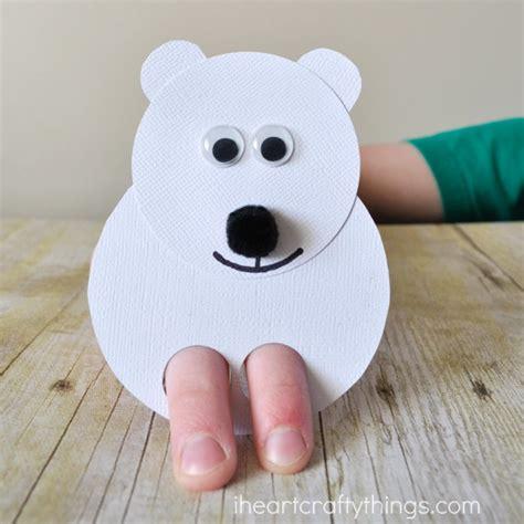 polar bear kids craft finger puppets i heart crafty things