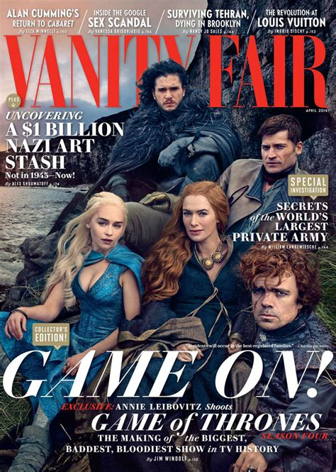 of thrones cast by leibovitz for vanity fair