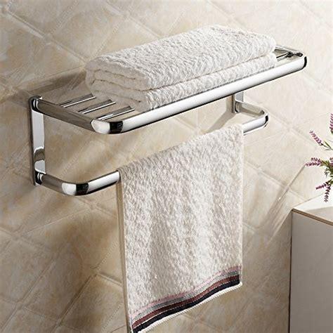 bathroom towel shelf chrome hiendure 174 brass wall mounted towel rack hanger holder