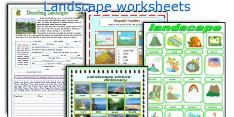 Landscape Vocabulary Teaching Worksheets Landscape