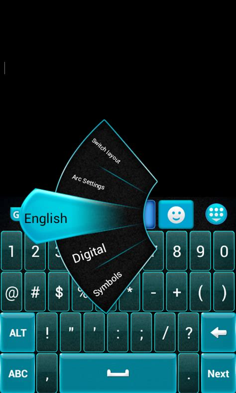 blue keyboards for android go keyboard blue and black free apk android app android freeware