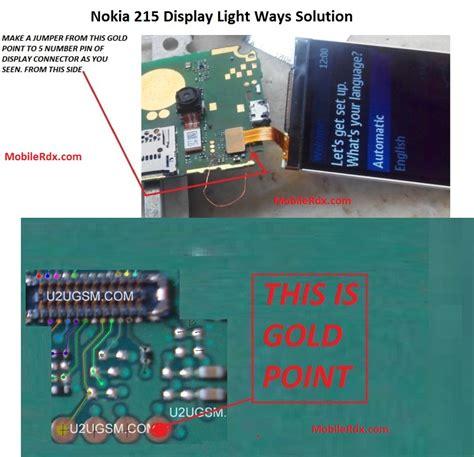 nokia 215 display light problem jumper solution mobilerdx