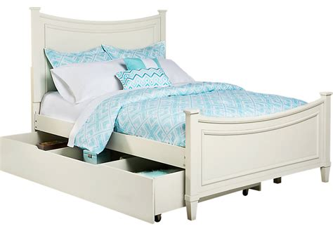 girls full bed jaclyn place ivory 4 pc twin bed w trundle trundle beds