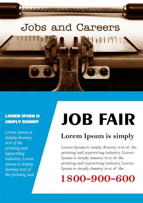 free templates for job flyers 10 convincing job fair flyers in word psd templates