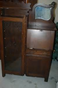 Antique Curio Cabinet With Desk Antique Oliver And Company Drop Desk Curio Cabinet
