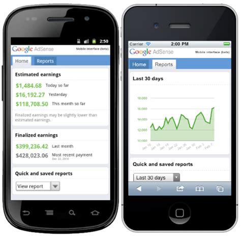 Adsense Mobile | google adsense mobile interface improved