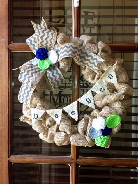 Baby Shower Door Decorations Baby Boy Shower Decorations Burlap Door Wreath Baby