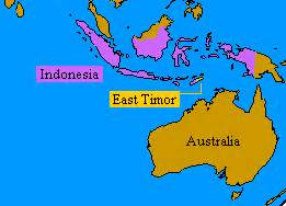 East Timor Location On World Map by East Timor Map Of World