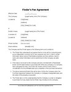 Property Finders Fee Agreement Template by The Gallery For Gt Dating Contract Template