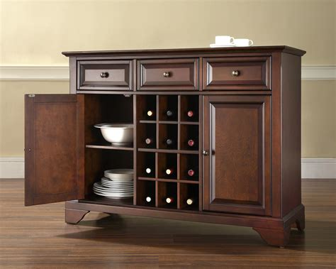 furniture buffet server crosley furniture lafayette buffet server in vintage mahogany finish buffet and sideboard 0 0