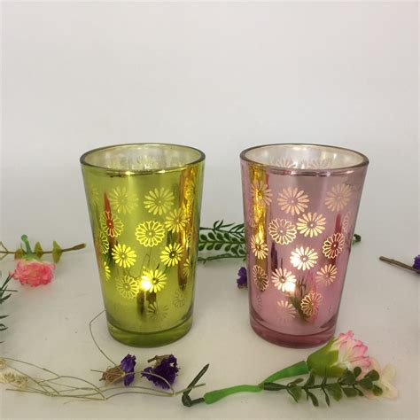 cheap wedding decoration t light candle holders glass