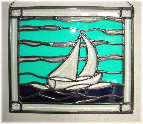 x37 zeilboot glas in lood