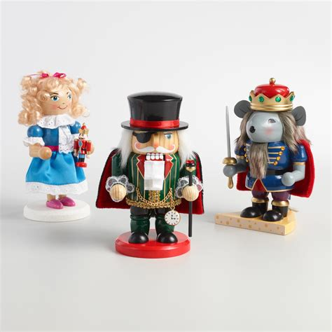 nutcracker suite chubby nutcrackers set of 3 world market