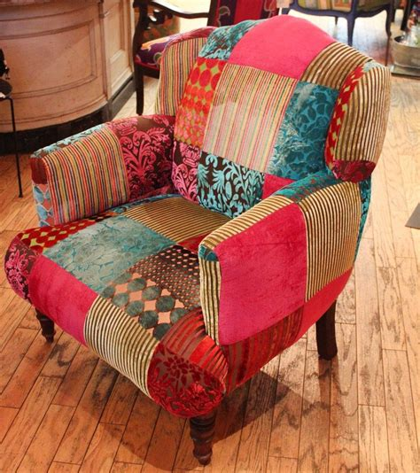 patchwork chairs image of velvet patchwork chair pinteres