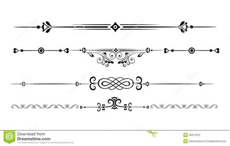 different design styles ornamental rule lines stock vector image 40011872