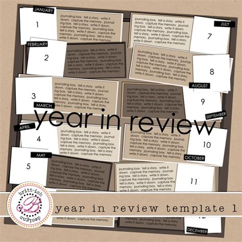 Year In Review Template 1 [brittdes yearinreview]   $2.00