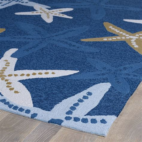 themed outdoor rugs matira indoor outdoor starfish rugs