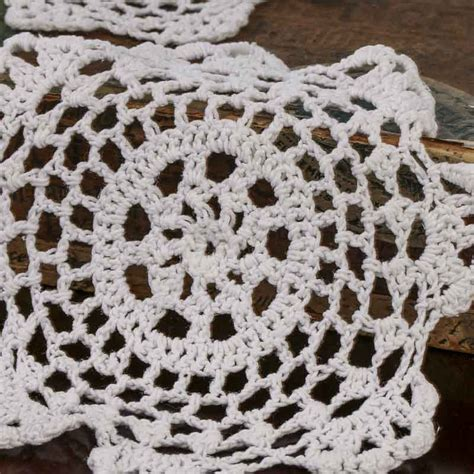Western Wedding Theme Decorations - white round crocheted doilies crochet and lace doilies home decor