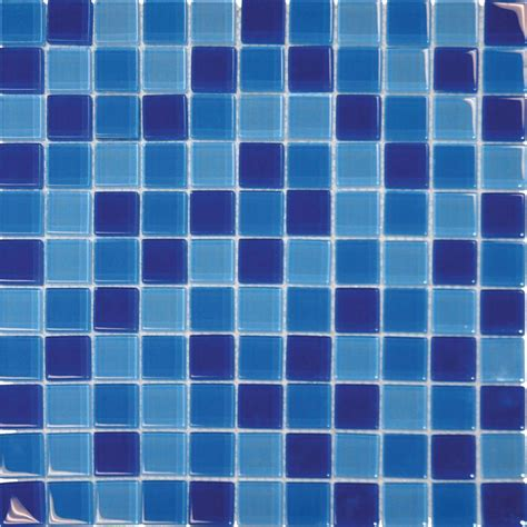 blue mosaic tile blue blend 12 in x 12 in x 8 mm glass mesh mounted