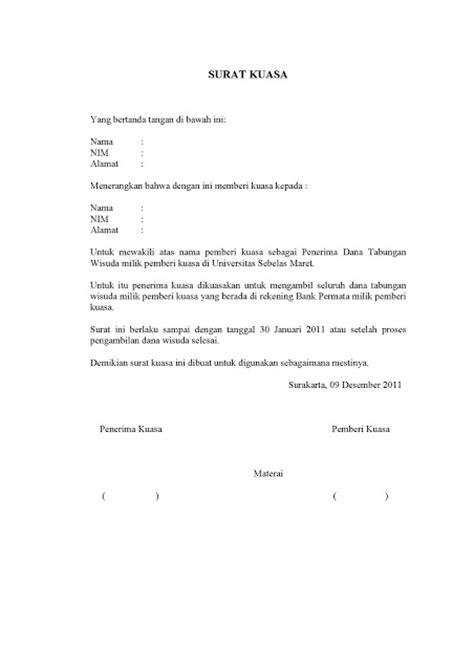 contoh surat kuasa scribd review ebooks