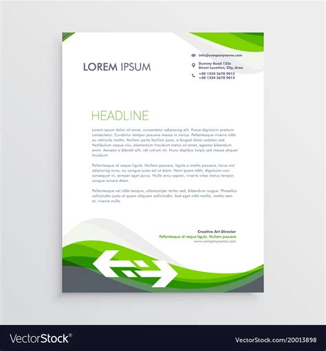 elegant green gray letterhead design template